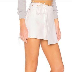 GRLFRND white wrap skirt